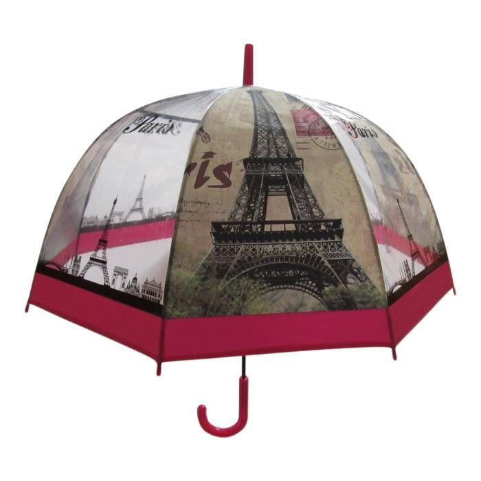 parapluie cloche canne droit semi transparent tour eiffel paris 80 cm b2 achat vente. Black Bedroom Furniture Sets. Home Design Ideas