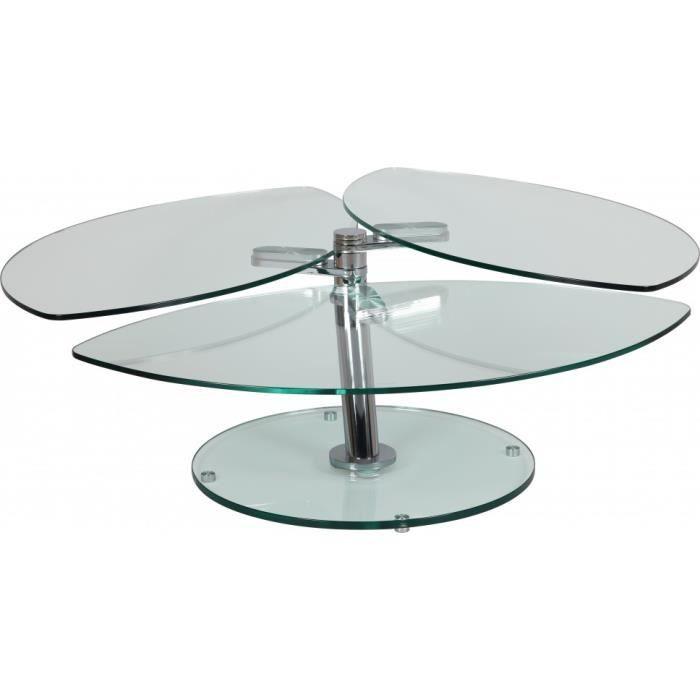 table pétale basse Vente Table verre articulée Achat n08wPOk