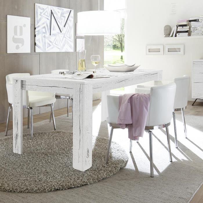 manger couleur chêne blanchi à contemporaine Table MALLORCA JFK1lc