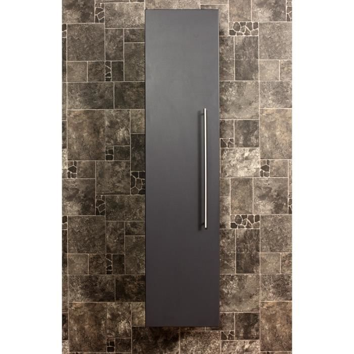armoire haute 150 cm anthracite aspect affin achat vente armoire de toilette armoire haute. Black Bedroom Furniture Sets. Home Design Ideas