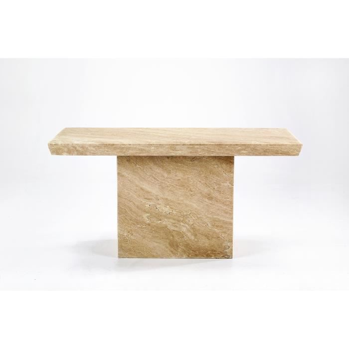 Table console en marbre travertin alicante achat vente for Table extensible marbre