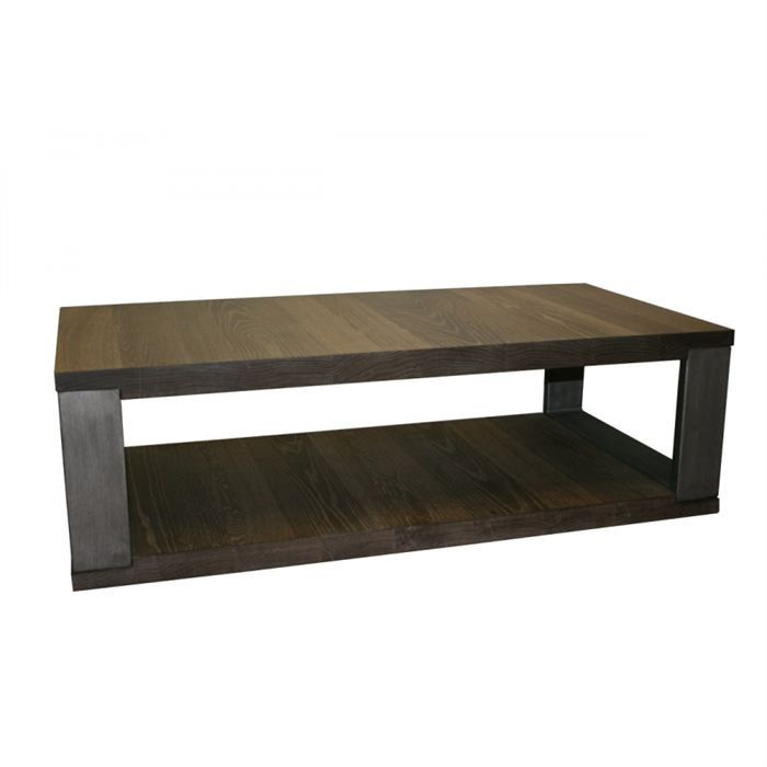 Table basse grand modele en ch ne achat vente table basse table basse gra - Table basse grand format ...