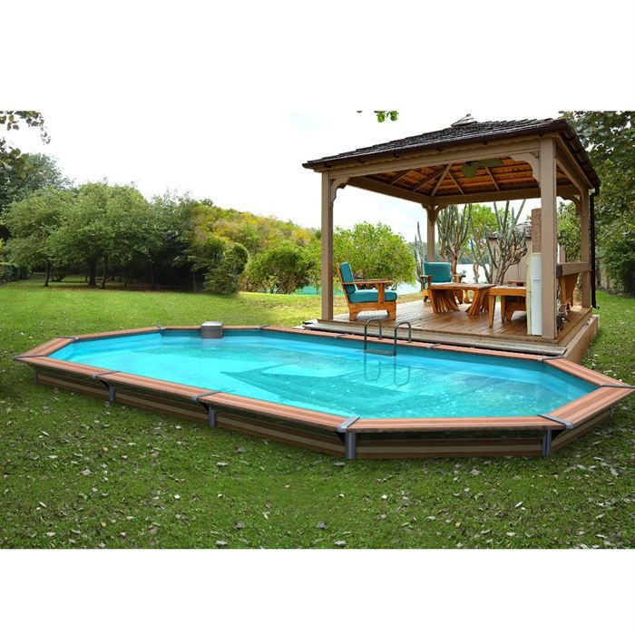 Piscine bois alu waterclip 680x370x147 optimum achat for Piscine kit bois semi enterree