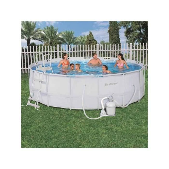 Bestway piscine tubulaire ronde filtre sable for Piscine tubulaire bestway