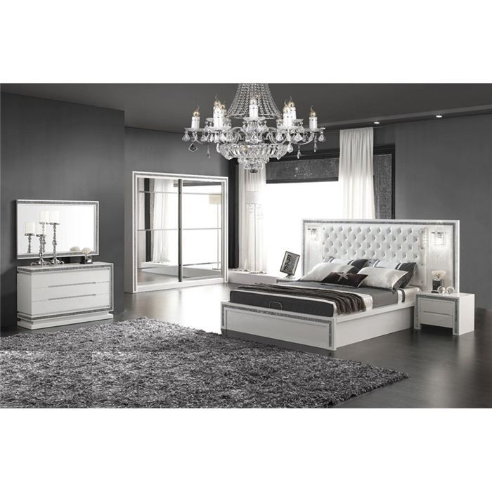 Chambre complete design luna achat vente lit complet for Photo chambre design