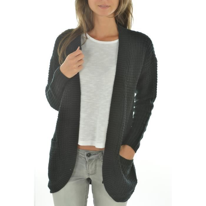 gilet femme only noir achat vente gilet cardigan cdiscount. Black Bedroom Furniture Sets. Home Design Ideas