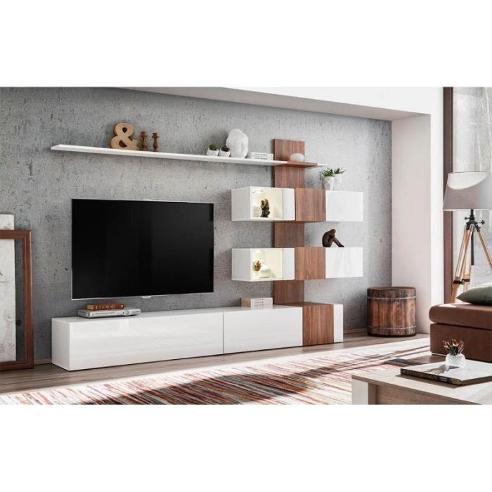 Ensemble Meuble Tv Design Quill 250cm Blanc Paris Prix Achat Vente Meuble Tv Ensemble Meuble Tv Design Cdiscount