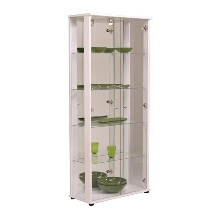 vitrine en verre achat vente vitrine en verre pas cher cdiscount. Black Bedroom Furniture Sets. Home Design Ideas