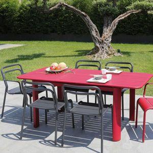Table de jardin Rouge - Achat / Vente Table de jardin Rouge ...