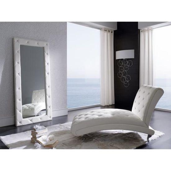 Grand Miroir En Similicuir Et Strass - Achat / Vente miroir ...