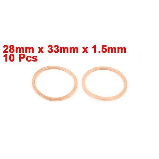 Plat en cuivre Rondelle Métrique 12 x 18 x 1,5 mm lot de 50