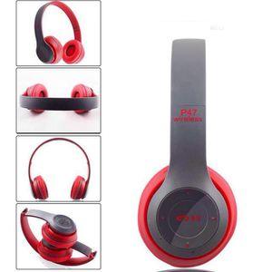 CASQUE - ÉCOUTEURS Casque Audio Bluetooth Sans Fil Casque Stéréo Plia