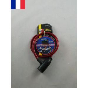 Câble Antivol à Clés 2 Clefs 63 cm Poussette Vélo VTT BMX Moto