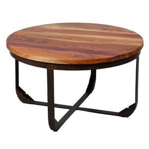 Table basse industriel achat vente table basse for Table basse bois metal