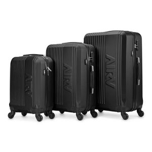 SET DE VALISES Set de 3 valises ABS trolleys Air V Lina - Noir