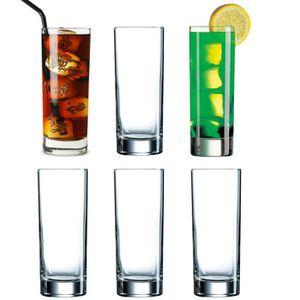 Verre à eau - Soda Coffret de 6 Verres à Long Drink Cocktail  Jus de