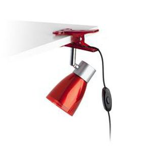 Lampe a pince rouge Aladino LED 1x3W