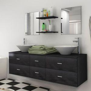 SALLE DE BAIN COMPLETE vidaXL 7 pièces de Mobilier salle de bain et lavab
