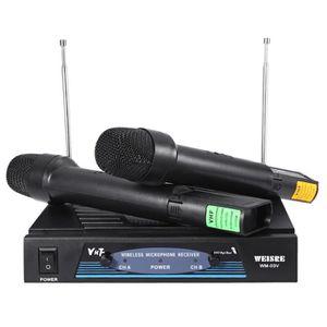 MICROPHONE - ACCESSOIRE  kit de microphone san fil VHF 2*Mic+1 *Récepteur