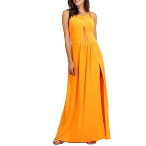 ROBE Couleur Femmes Sexy Pure Fashion Slit évider Robe