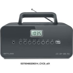 RADIO CD CASSETTE MUSE M-28 DG  Radio portable - CD - USB - Noir