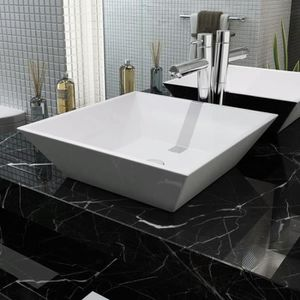Mai /& Mai lave main /évier vasque 120x46x13cm en r/ésine de synth/èse blanc rectangulaire avec 2 per/çages pour robinet lavabo avec cache bonde sans trop-plein /à poser///à suspendre Col19-1200