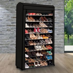 meuble a chaussures 50 paires achat vente meuble a chaussures 50 paires pas cher cdiscount. Black Bedroom Furniture Sets. Home Design Ideas