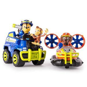 FIGURINE - PERSONNAGE PAT PATROUILLE Pack de 2 véhicules JUNGLE RESCUE