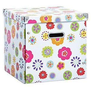 BOITE DE RANGEMENT Zeller 2057065 Boîte de Rangement Multicolore 33,5