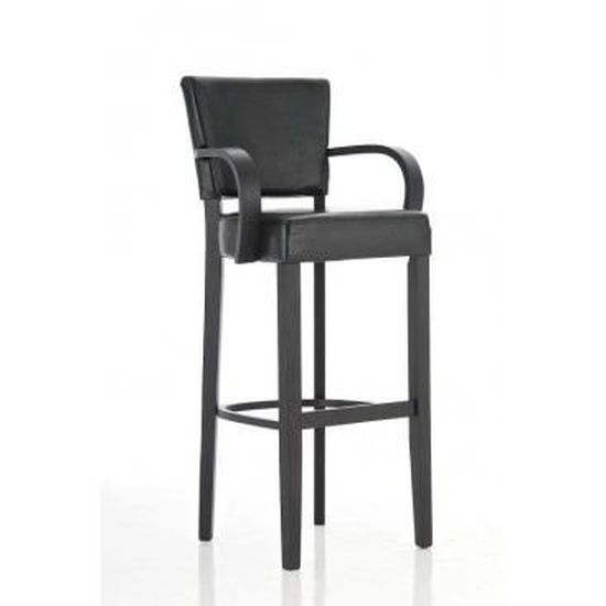 prix le plus bas 6be2f add2a Tabouret de bar design avec accoudoirs Marinella - Noir ...