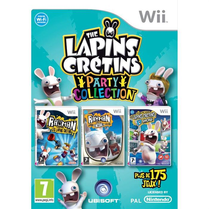 the lapins cretins party collection jeu wii achat vente jeux wii the lapins cretins party. Black Bedroom Furniture Sets. Home Design Ideas