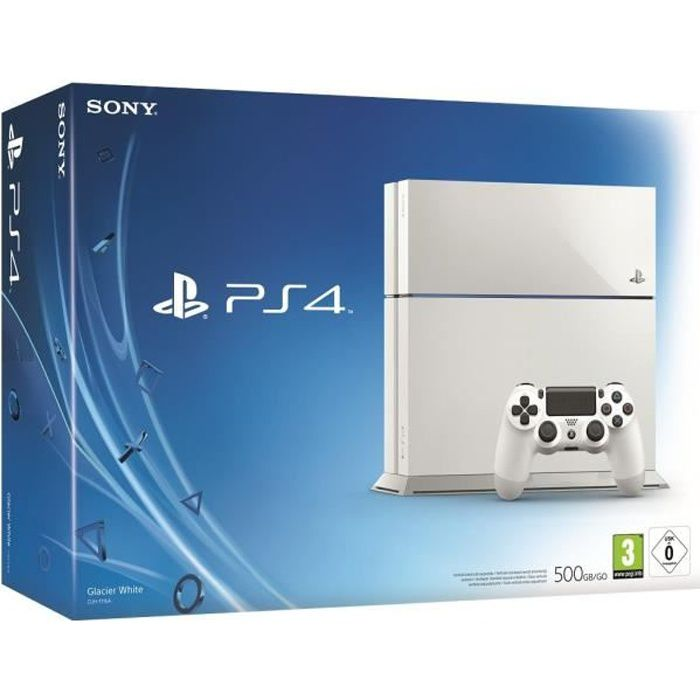 ps4 500 go blanche achat vente console ps4 ps4 500 go blanche cdiscount. Black Bedroom Furniture Sets. Home Design Ideas