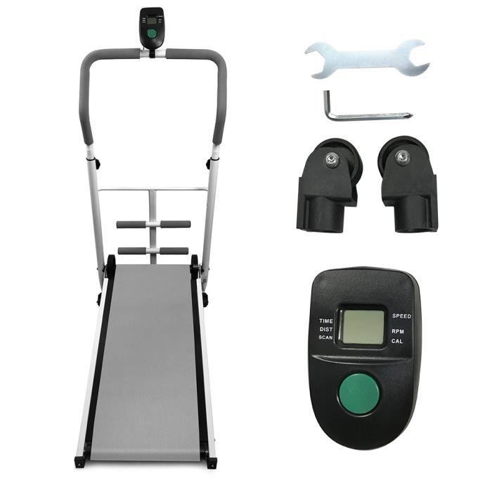 YYiS Tapis de Course Pliable, Gris Tapis de Course de Bureau Sport pour Marche, Jogging et Fitness, 88x43.5x110cm