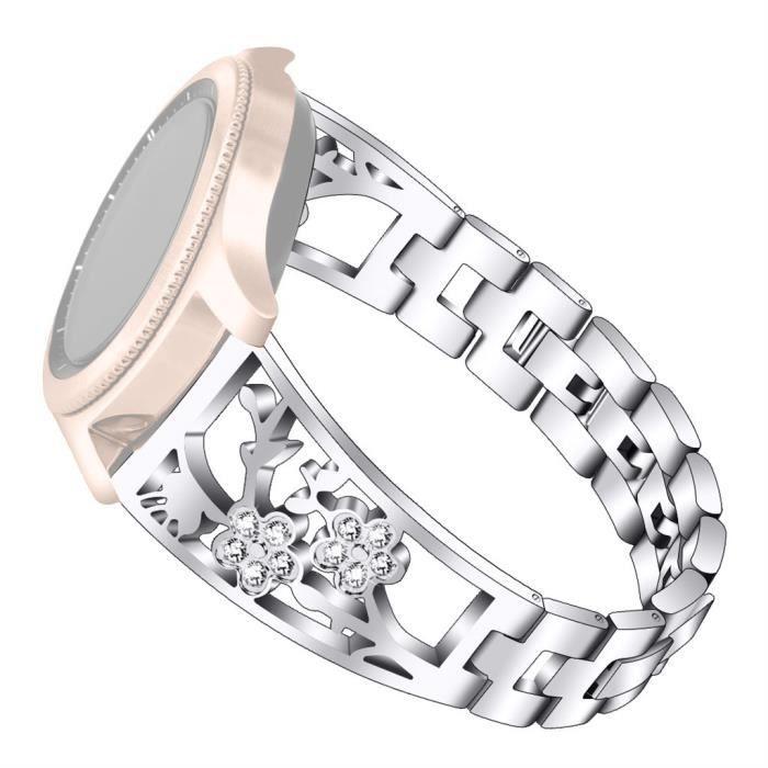bracelet de montre vendu seul Bracelet de remplacement en acier inoxydable pour Samsung Galaxy Watch 42mm - Active 40mm