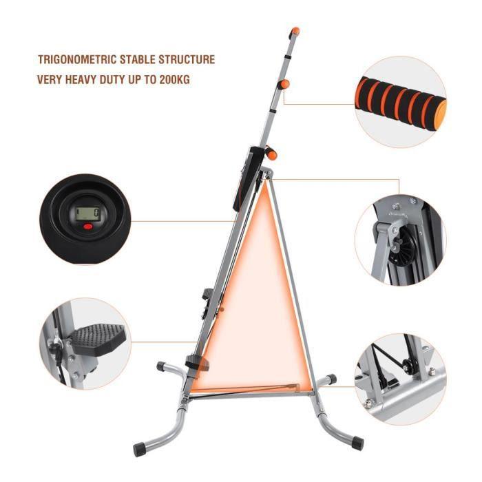 Machine de grimpeur Grimpeur de cadre en acier L'équipement d'entraînement à la maison