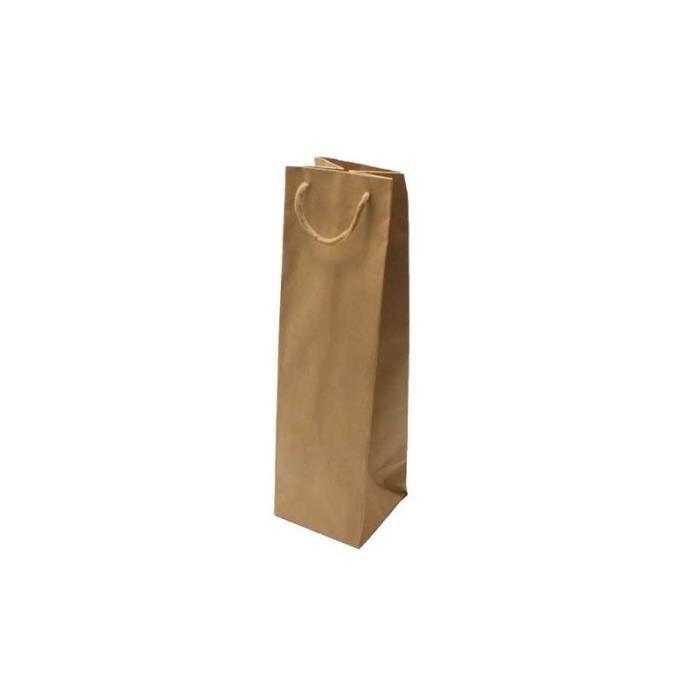 12 Sacs kraft brun naturel pour bouteille - 6979 Kraft