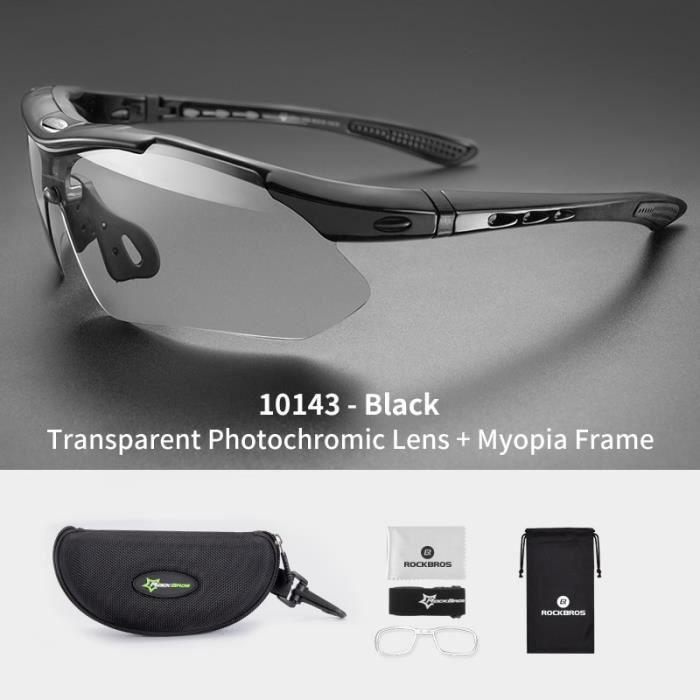 lunettes de cyclisme photochromiques lunettes de vélo Sport lunettes de soleil hommes myopie vtt route lunettes de 10143 -GZ3120