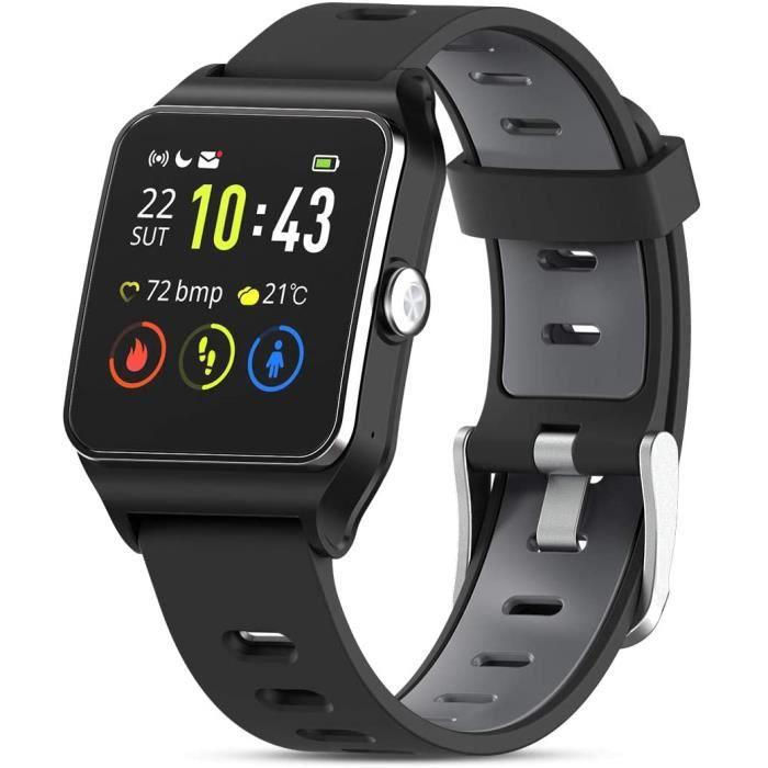 HolyHigh Montre Connectée GPS Montre Sport Podomètre Bluetooth Smartwatch IP68 Etache détection de la fréquence Cardiaque Montre316