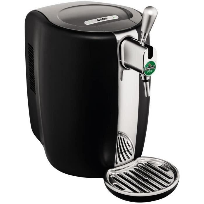 Krups & Heineken VB310E10 SEB VB310310 Tireuse Pression Beertender Machine à bière Pompe Fût 5L Noir et INOX