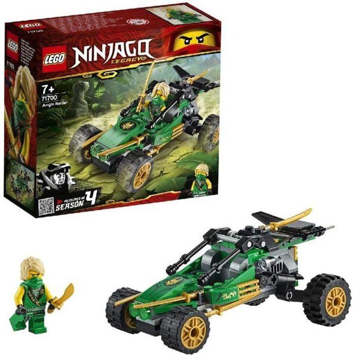 Jeux de construction LEGO NINJAGO, Legacy Le buggy de la jungle, Voiture avec figurine de Lloyd, Set de construction, Le 52840