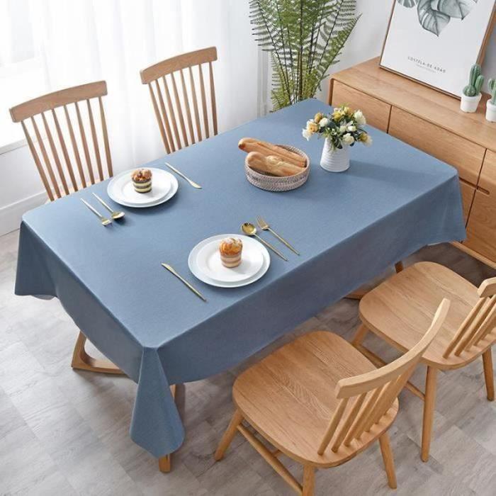 FL09339-Nappe Anti-Tâches Rectangle PVC bleu marine 110X160cm,pour Picnic, Exterieur, Jardin