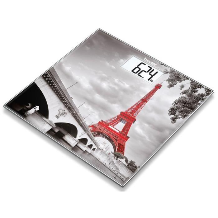BEURER 756.31 Pèse-personne en verre - motif Paris