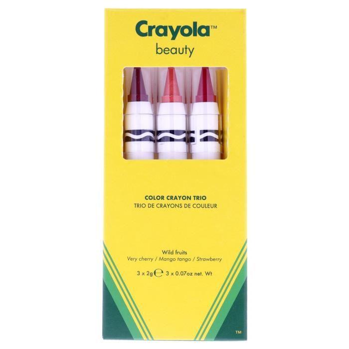 Crayola Crayon Trio - Wild Fruits by Crayola for Women - 3 x 0,07 oz de rouge à lèvres Very Cherry, Mango Tango, Strawberry