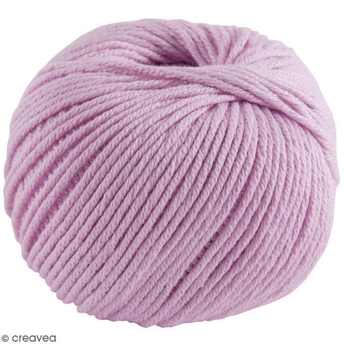 Fil DMC Natura Medium - 32 coloris - 50 g Rose Parme N° 136