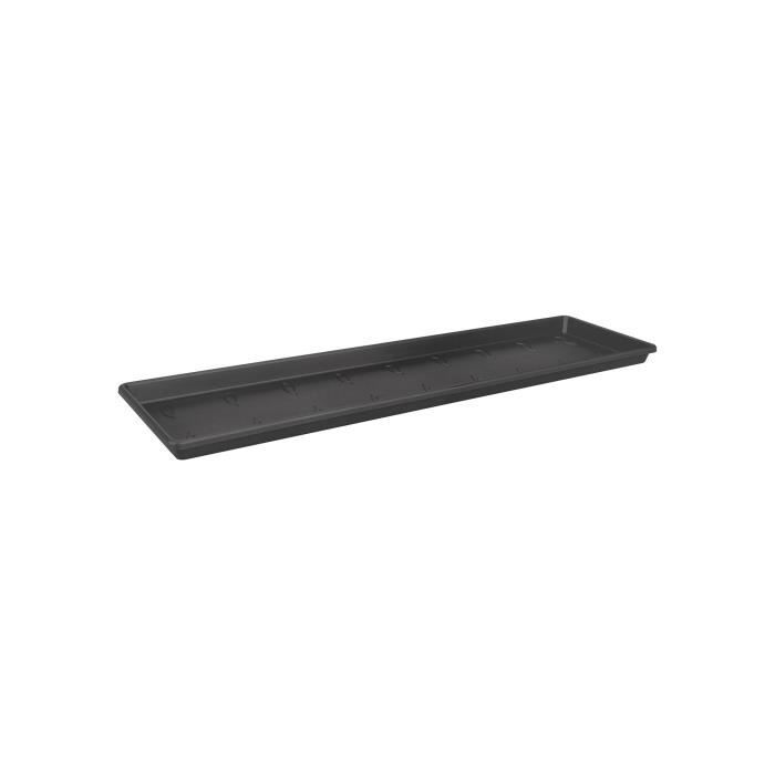 ELHO Soucoupe pour balconnière Green Basics 40 - Extérieur & Balcon - Ø 37,3 x H 2,4 cm - Vivre noir