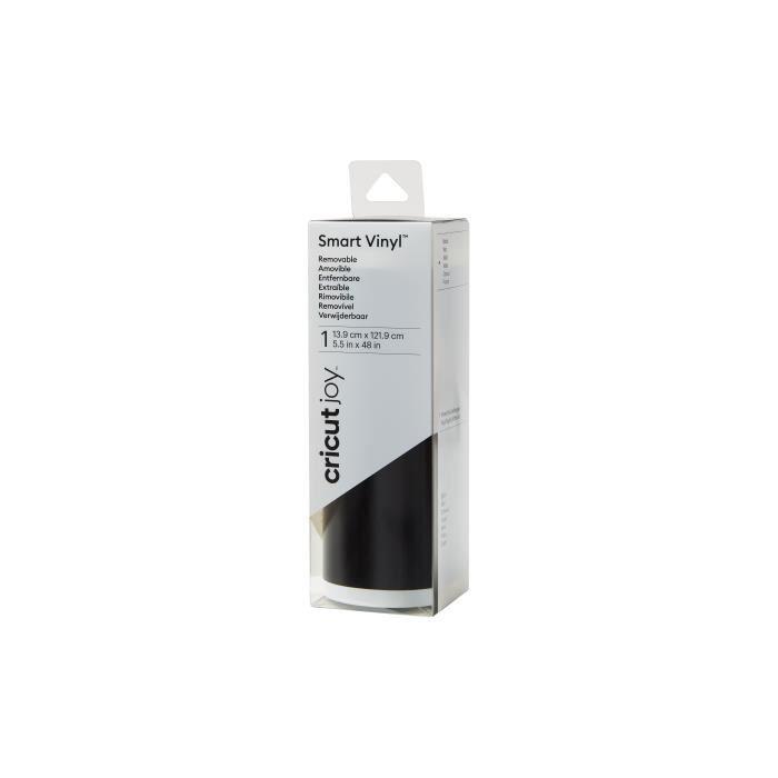 Cricut - Rouleau de vinyle amovible Smart Noir - 13,9 x 121,9 cm