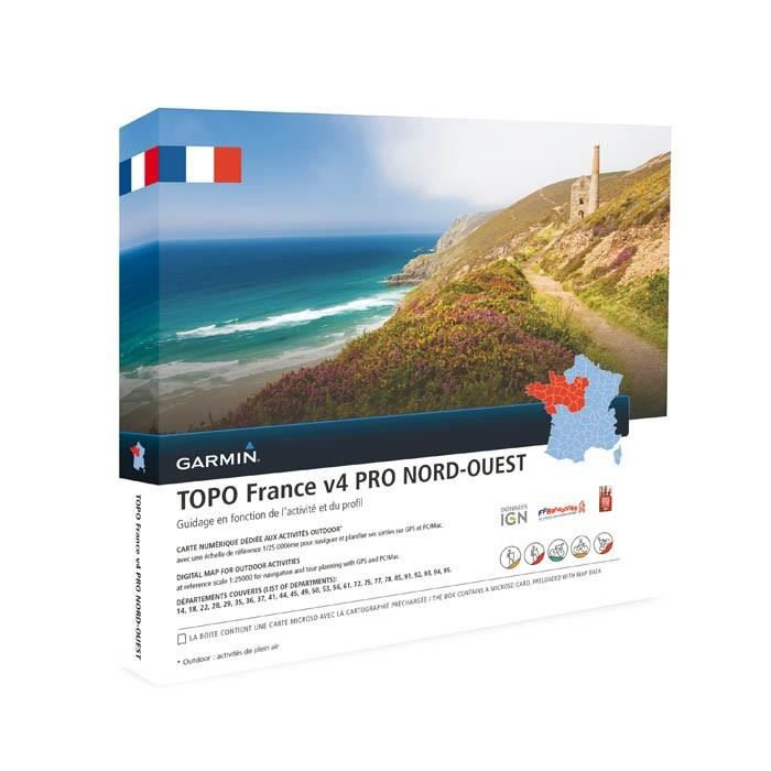GARMIN Carte Topo France V5 Nord-Ouest Pro