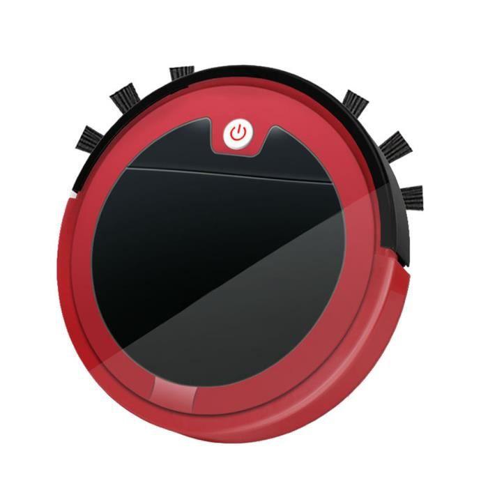 Télécommande Pour Aspirateur Robotique 3 En 1, Rechargeable Par USB, Nettoyage Du Robot MIni Pour Le Nettoyage Des Sols En rouge