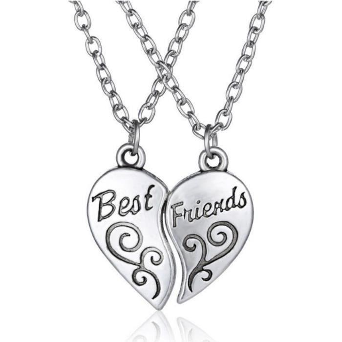 Collier - Best Friends - Meilleures Amies - Simply - Argenté