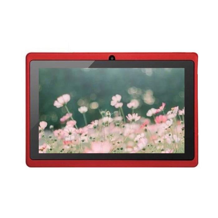 7 pouces écran HD tablette Tactile Pc A33 sans fil 512M+4G - rouge